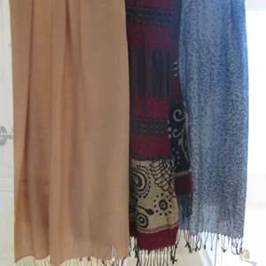 Lot # 148 - 3-Large Scarves, Chico's, Pashmina & Decorative