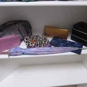 Lot # 154 - Make-Up & Travel Bags + Case & Umbrella