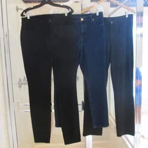 Lot # 155 - 3-Pair Ladies Jeans/Slacks