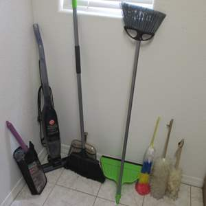 Lot # 188 - Hoover Minivac & Household Cleaning Supplies
