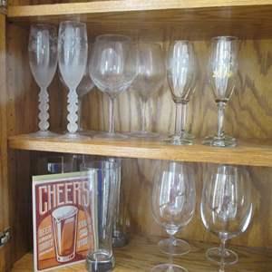 Lot # 193 - Variety of Glass Stemware