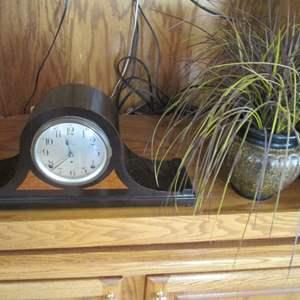 Lot # 279 - Mantle Clock & Vase