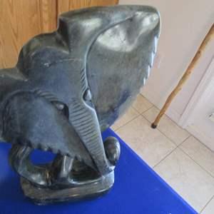 "Lot # 282 - Elephant Statue, 7"" X 15"""