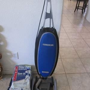 Lot # 240 - Oreck Magnesium Vacuum & Bags, Works! (See note below!)