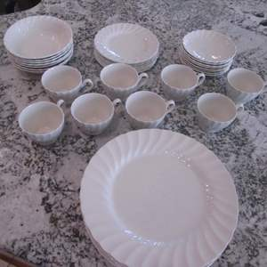 """Lot # 319 - China Set """"Olde Chelsea White"""" Meakin Staffordshire, Eng. 38 Pcs."""