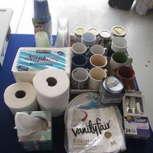 Lot # 8 - Assorted Paper Goods & Mugs