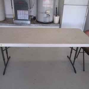 Lot # 27 - 6' Folding Table & Bridge Chair