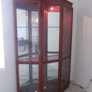 "Lot # 123 - 52"" Lighted Curio Cabinet"