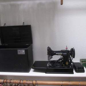 Lot # 159 - Singer Featherweight Sewing Machine #221-1 with Case