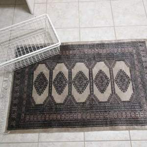 Lot #164 - Small Area Rugs & Storage Baskets