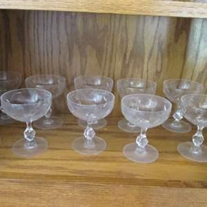 Lot # 195 - 10-Sherbet Glasses
