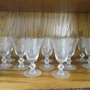 Lot # 197 - 12-Water Goblets