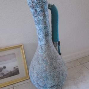"""Lot # 225 - Framed Picture & Decorative Vase, 26"""" high"""