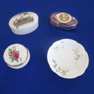 Lot # 262 - 3-Covered Boxes & Bowl