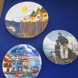Lot # 311 - 3-Collector Plates; Norman Rockwell, Maria Sandalakis