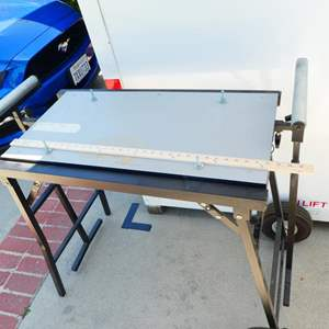 Lot # 202- Chop saw table