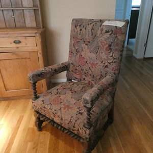 Lot # 4- Gorgeous vintage over sized captain chair.