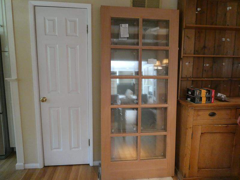 Lot # 5- 2 Brand new Rogue Valley solid wood door with clear window panes. (main image)
