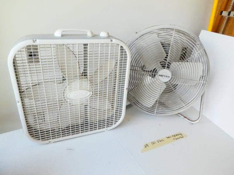 Lot # 219- Patton high velocity fan and Lasco box type fan (main image)