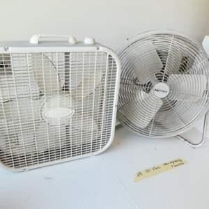 Lot # 219- Patton high velocity fan and Lasco box type fan