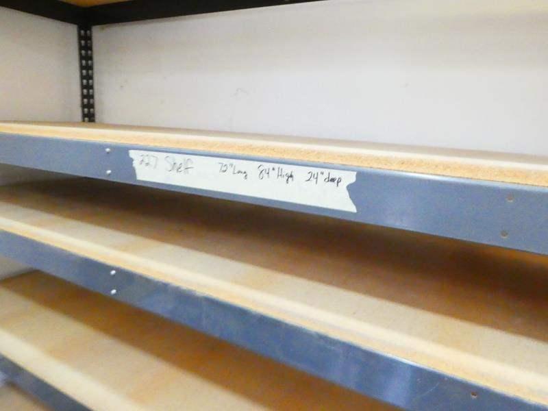 Lot # 227- Sturdy garage shelf (72x84x24) (main image)