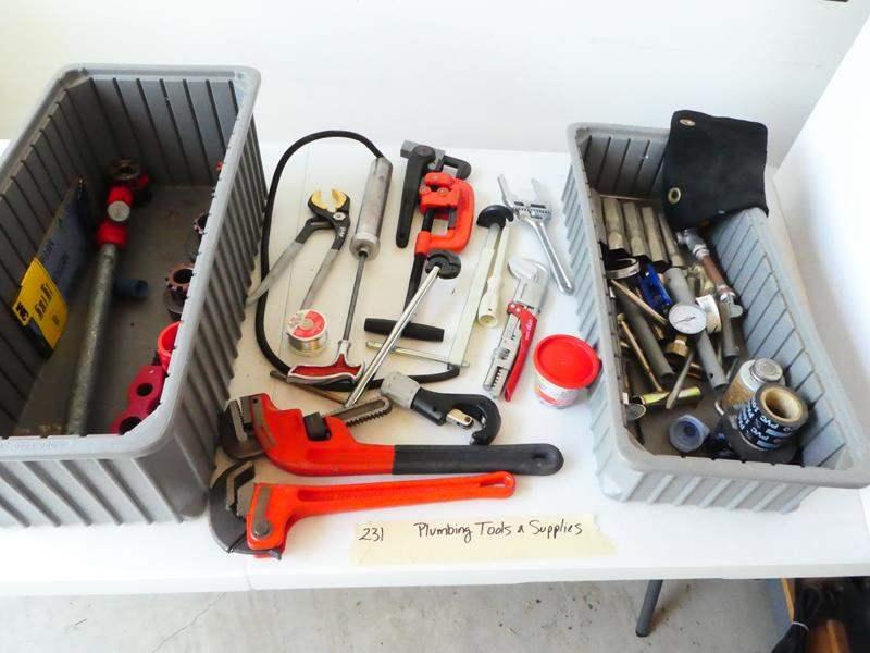 Lot # 231- Plumbing tools and supplies (main image)