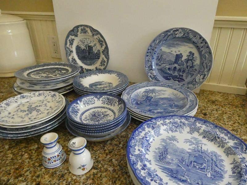 Lot # 17- Beautiful vintage blue and white fine china!  (main image)