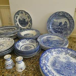 Lot # 17- Beautiful vintage blue and white fine china!