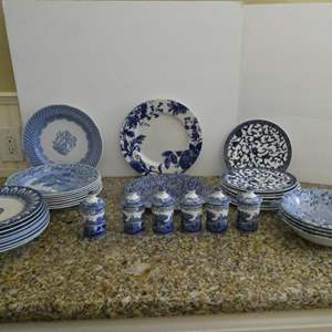 Lot # 18- More fine china!! Gorgeous blue and white print!