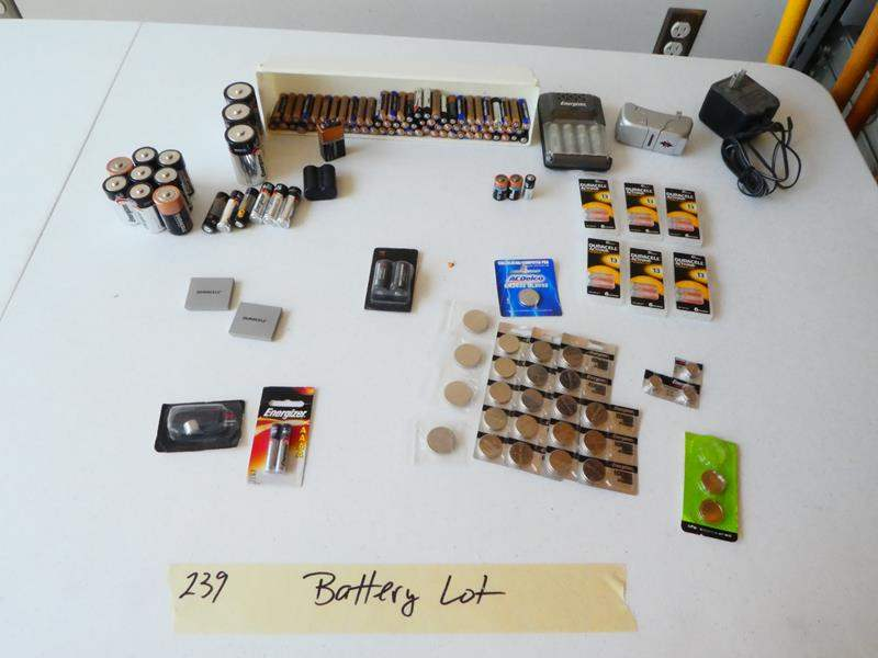 Lot # 239- Batteries.  (main image)