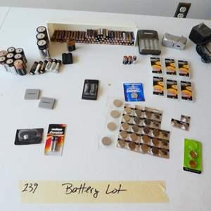 Lot # 239- Batteries.