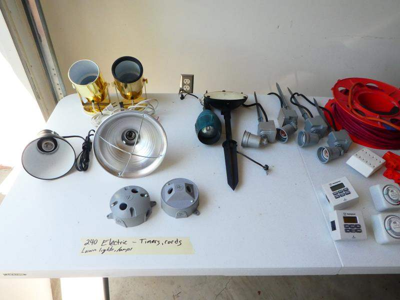 Lot # 240- Wiring and lighting kit, more electrical (main image)