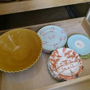 Lot # 23- Dishes, dishes, and more dishes! Beautiful, fun pieces for every occasion