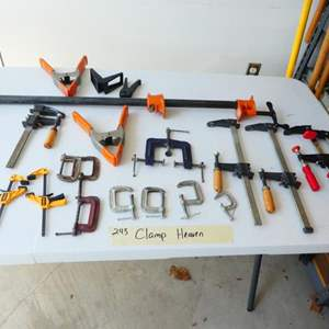 Lot # 243-Clamps for all occasions