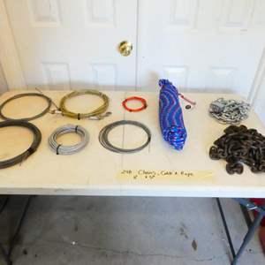 Lot # 248- Mega chain, rope, Coffee table