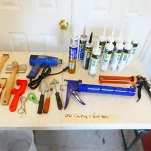 Lot # 250-Caulking, paint tools, and caulking guns