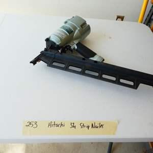 Lot # 253- Hitachi nail gun