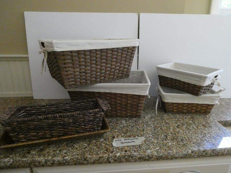 Lot # 32-Cute, multipurpose baskets! (main image)