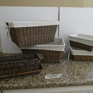 Lot # 32-Cute, multipurpose baskets!