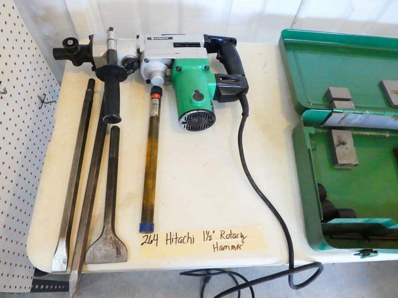 """Lot # 264- Hitachi 1 1/2 """" Rotary hammer  (main image)"""