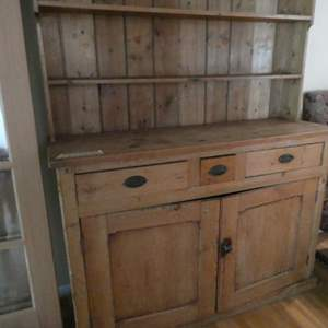 Lot # 35- Beautiful, Sturdy, rustic hutch. Very stylish and sturdy!