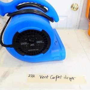 Lot # 272-Vent Carpet dryer