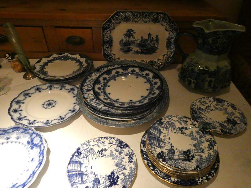 Lot # 38-Blue and white Moselle china! Very classy (main image)