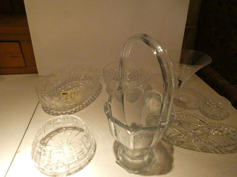 Lot # 39-Waterford and Heisey crystal bowls, vases, crystal salt and pepper shakers and much more (main image)