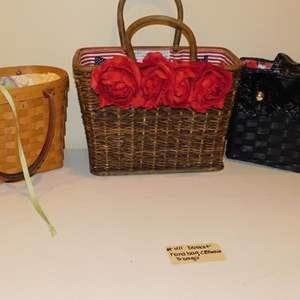 Lot # 411-3 adorable basket hand bag collection