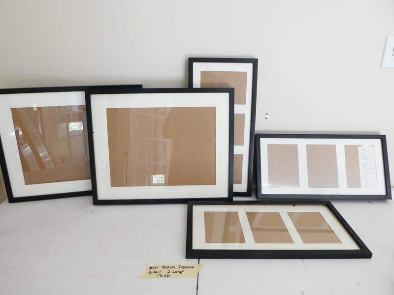 Lot # 51- Brand new black picture frames (main image)