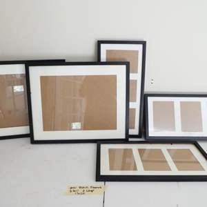 Lot # 51- Brand new black picture frames
