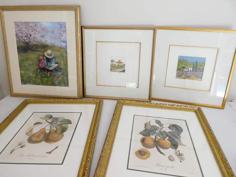 Lot # 52-framed art and fruit pictures (main image)
