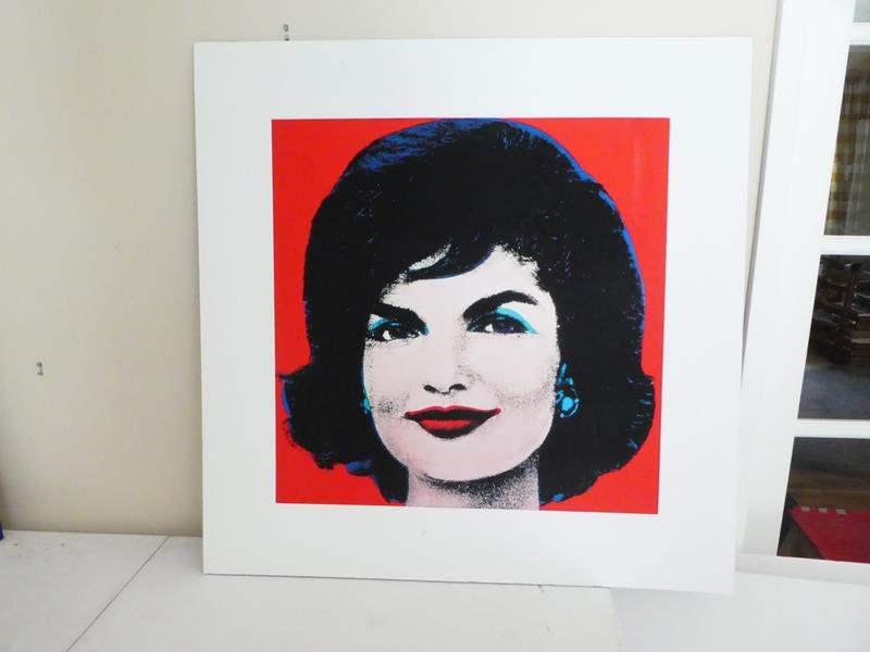Lot # 55-Andy Warhol print of Jackie Kennedy (main image)