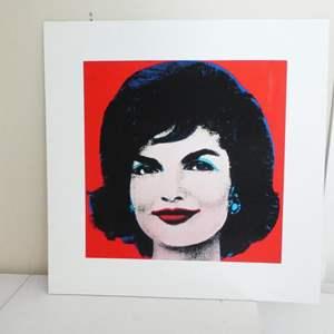 Lot # 55-Andy Warhol print of Jackie Kennedy